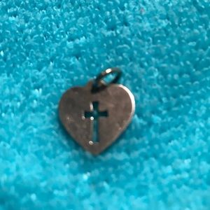 James Avery heart pendant or charm bracelet charm